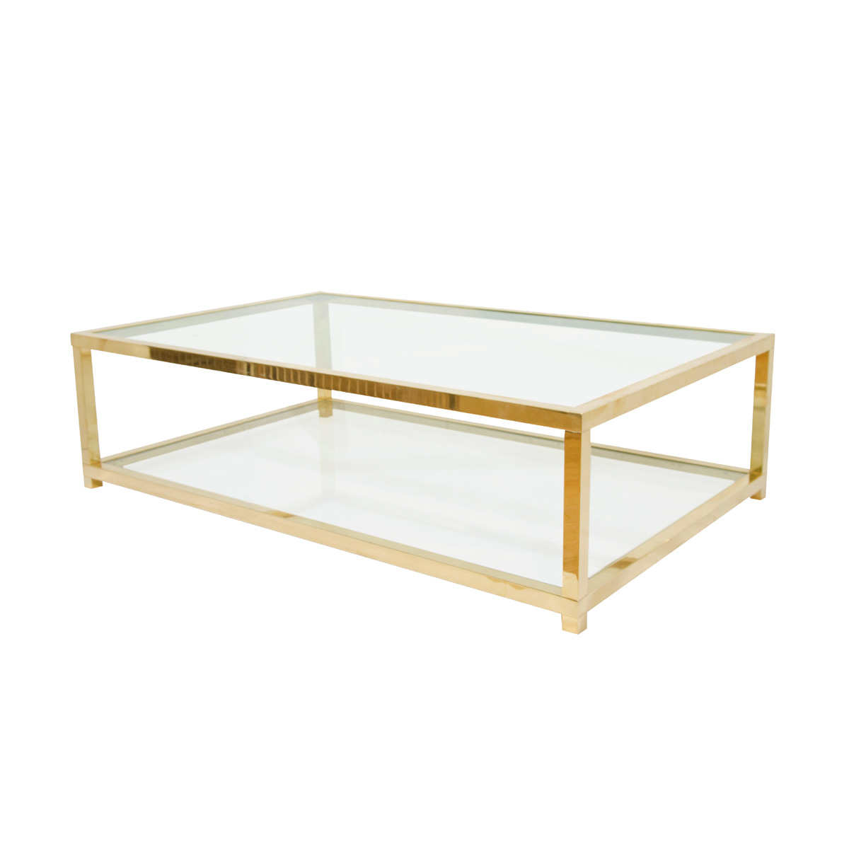 Two Tiered Brass And Glass Coffee Table Coffee Tables John Salibello