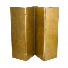 Four panel gold leafed screen